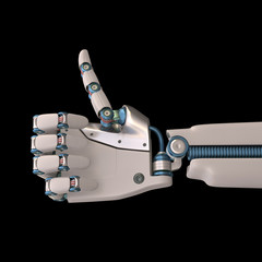 Positive Robot. Clipping path included.