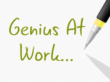 Genius At Work Indicates Intellectual Capacity And Brilliance poster