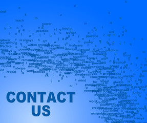 Contact Us Indicates Send Message And Communication
