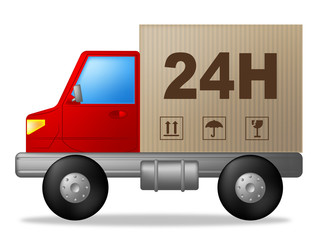 Same Day Delivery Indicates Distribution Freight And Lorry