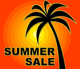 Summer Sale Indicates Cheap Save And Retail