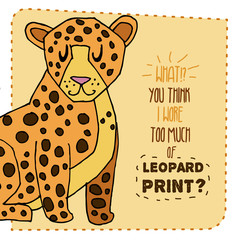 Leopard hand drawn illustration. Vector illustration.