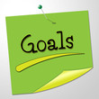 Goals Note Shows Aspire Message And Targeting