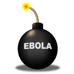 Ebola Bomb Shows Infectious Infected And Epidemic