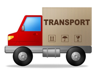 Transport Truck Represents Sign Lorry And Delivery