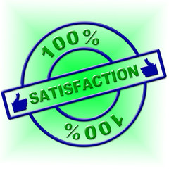 Hundred Percent Satisfaction Indicates Contentment