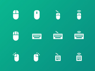 Mouse and Keyboard icons on green background.