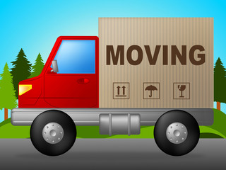 Moving Truck Means Change Of Address And Lorry