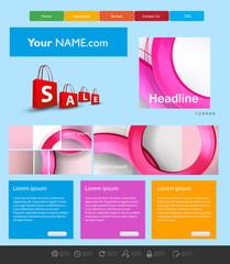 Website Template, easy all editable