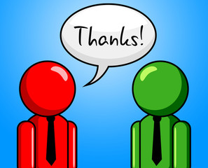 Thanks Conversation Represents Chit Chat And Chinwag