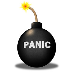 Panic Warning Represents Hysteria Anxiety And Terror