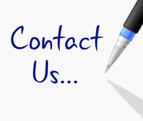 Contact Us Means Mail Internet And Message