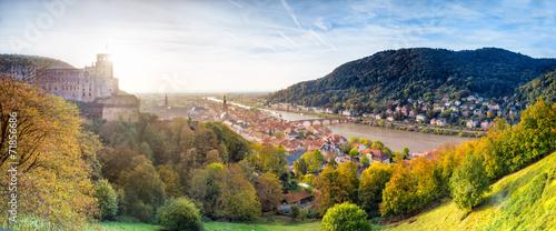 canvas print picture Heidelberger Schloss und Altstadt