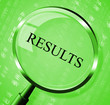 Results Magnifier Means Success Magnifying And Score