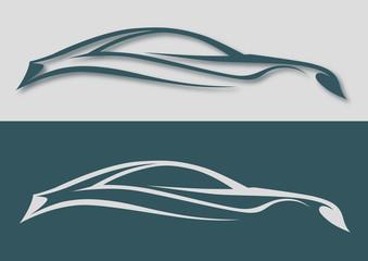 Farklı çizgilerle otomobil logosu