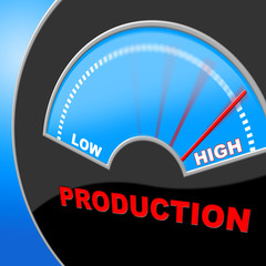 High Production Indicates Made In And Excessive