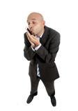funny internet mobile phone addict businessman using smartphone poster
