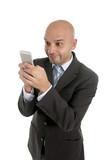 internet mobile phone addict businessman using smartphone poster