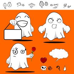 ghost funny cartoon set9
