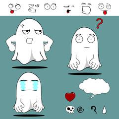 ghost funny cartoon set8