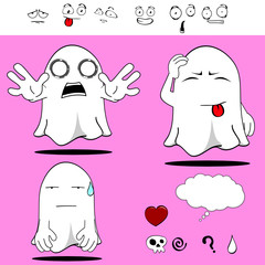ghost funny cartoon set7