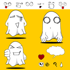 ghost funny cartoon set6