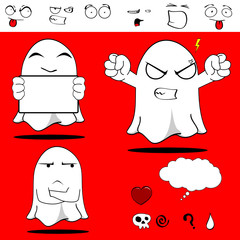 ghost funny cartoon set5