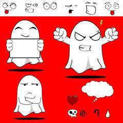 ghost funny cartoon set5