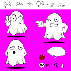 ghost funny cartoon set4