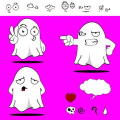 ghost funny cartoon set4