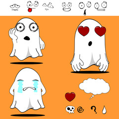 ghost funny cartoon set3