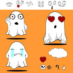 ghost funny cartoon set3