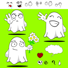 ghost funny cartoon set2