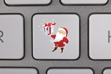 Santa Claus Icon Keyboard