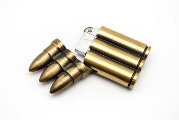 Bullet Shaped Lighter, opened