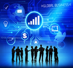 Business People Working and Global Business Concepts
