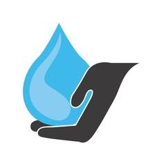 water hand design