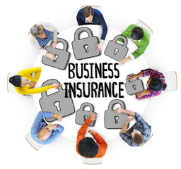 Group of People and Business Insurance Concepts