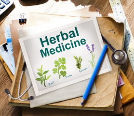 Herbal Medicine Healthcare Wellbeing Concepts