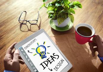 Digital Brainstorming Design Ideas Concepts