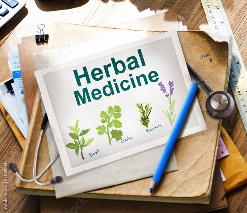 canvas print picture Herbal Medicine Healthcare Wellbeing Concepts