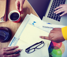 Business People Statistical Analysis Teamwork