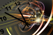 Clock and abstract background
