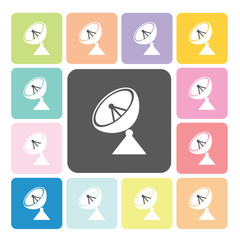 Satellite Icon color set vector illustration