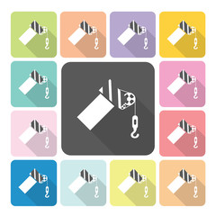 Crane Icon color set vector illustration