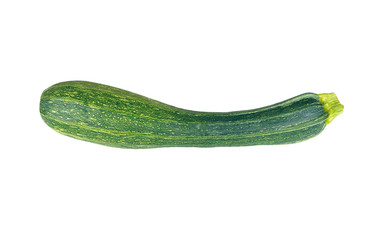 Vegetable marrow (zucchini), isolated on white background
