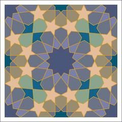 Arabesque pattern, vector tiling blocks