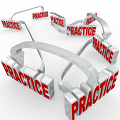 Practice Word Arrows Workflow Prepare Learn Training