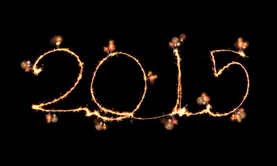 Happy New Year - 2015 made a sparkler