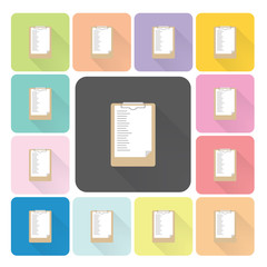 Paper board Icon color set vector illustration